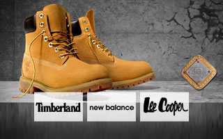 Timberland, New Balance, Lee cooper