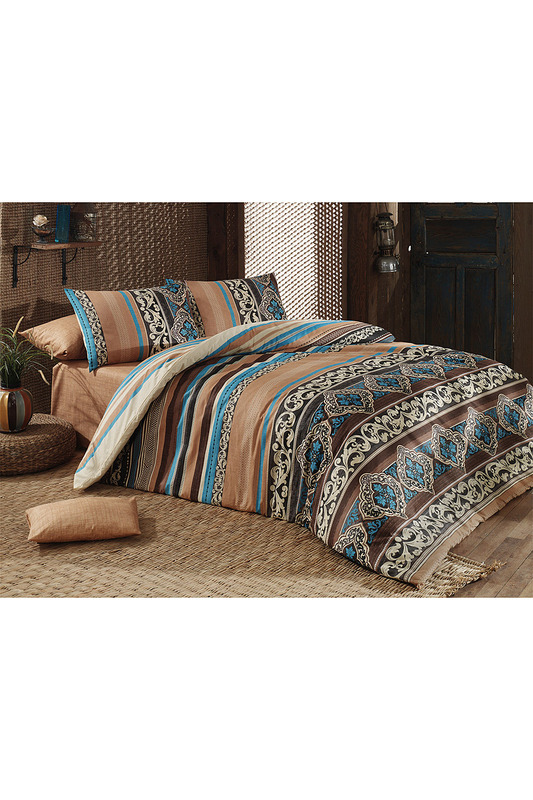 bed linen set Majoli Bahar Home Collection Постельное белье с рисунком cover set majoli bahar home collection cover set