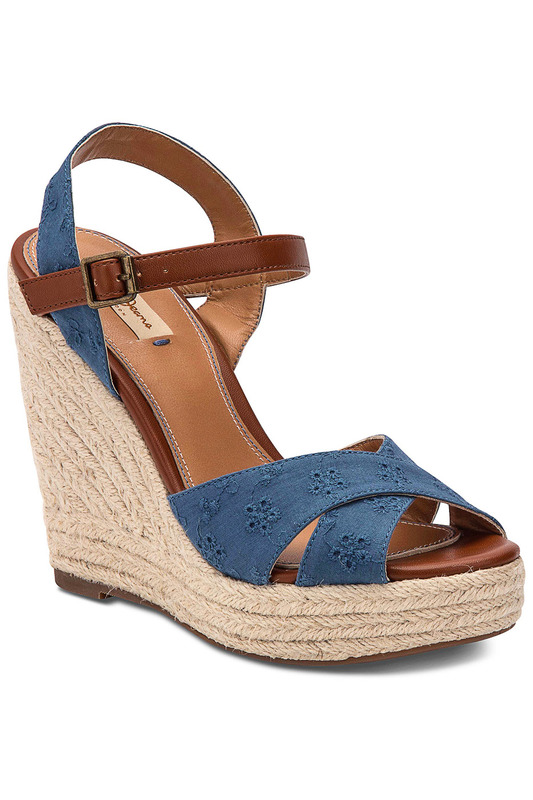 Фото - wedge sandals Pepe Jeans синего цвета