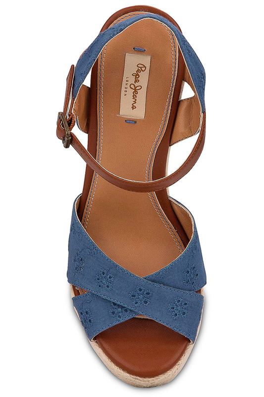 Фото 3 - wedge sandals Pepe Jeans синего цвета