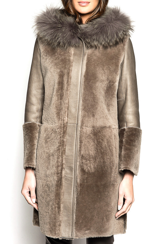 sheepskin coat Giorgio Дубленки с капюшоном sheepskin coat giorgio valenti sheepskin coat