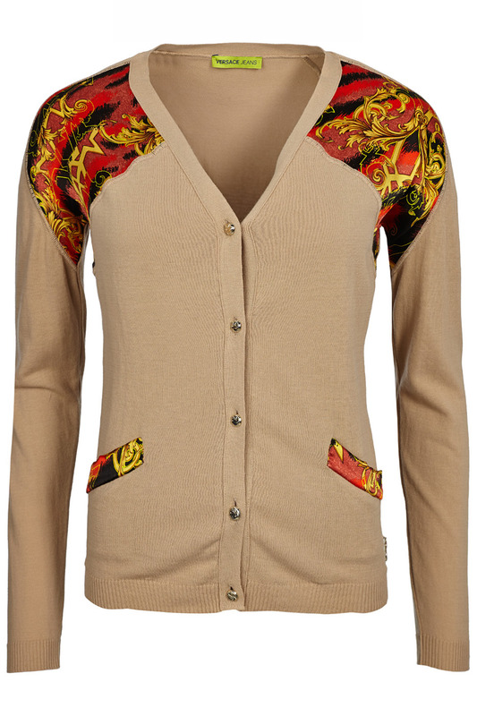 cardigan Versace Jeans Couture Кардиганы на пуговицах футболка надпись пайетки versace jeans couture page 5