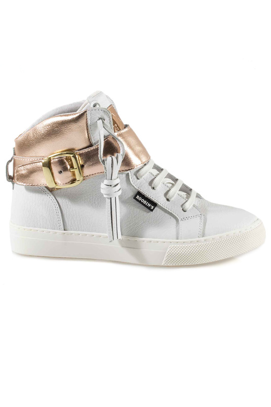 Фото - SNEAKERS Roobins цвет white and golden