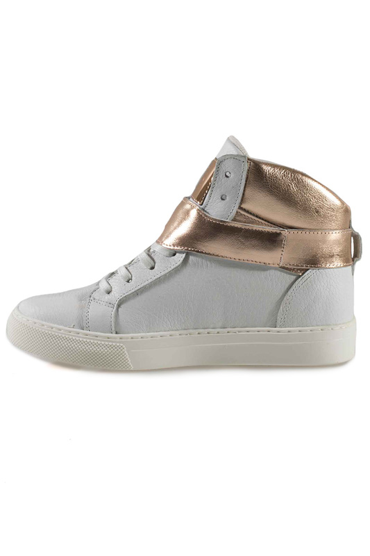 Фото 2 - SNEAKERS Roobins цвет white and golden