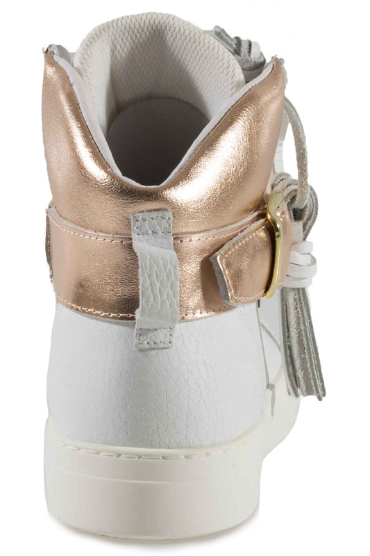 Фото 3 - SNEAKERS Roobins цвет white and golden