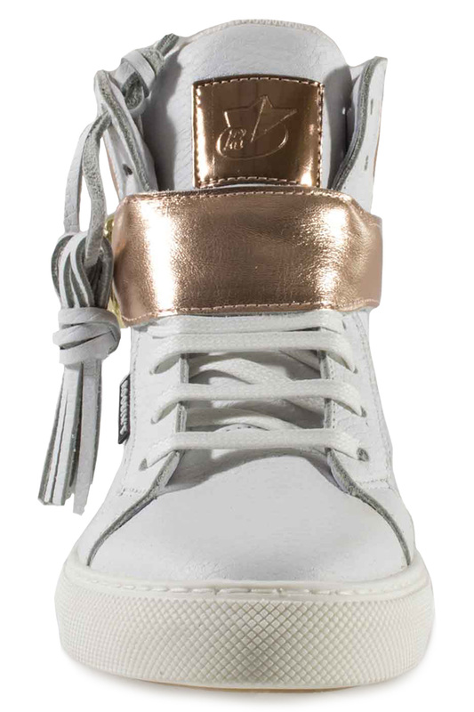 Фото 4 - SNEAKERS Roobins цвет white and golden
