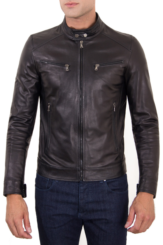 Leather jacket AD MILANO Leather jacket рубашка joop рубашка