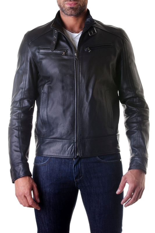 Leather jacket AD MILANO Куртки косухи куртка izod куртка