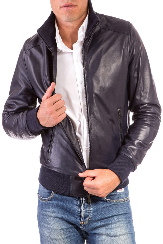 Leather jacket AD MILANO Leather jacket свитер calvin klein