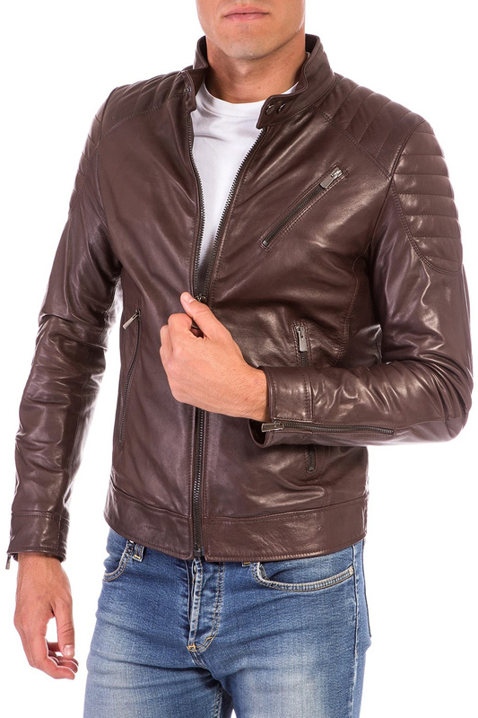 Leather jacket AD MILANO Leather jacket брюки irfe брюки зауженные