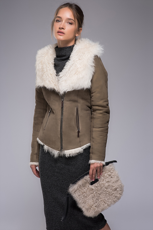 sheepskin coat VESPUCCI BY VSP Дубленки с капюшоном sheepskin coat oakwood page 1