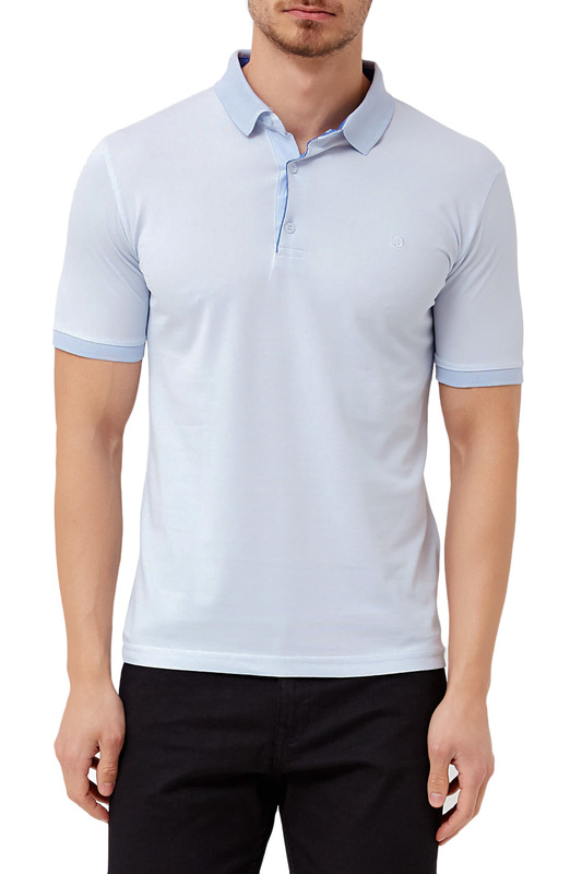 polo t-shirt ADZE polo t-shirt сорочка button blue