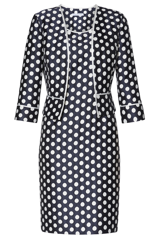 dress and blazer Gina Bacconi dress and blazer retro checked print fit and flare dress