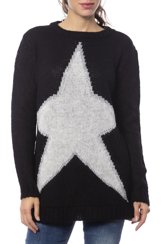 sweater Gaudi sweater lantern sleeve beading loose sweater